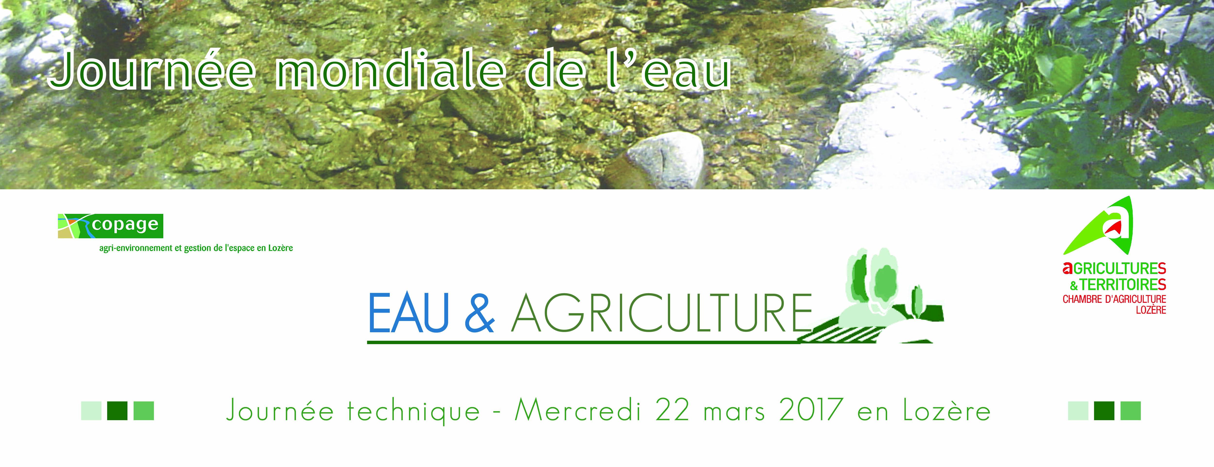"""Journée technique """"Eau & Agriculture"""" Bilan de la 1¨re édition"""